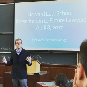 David Oscar Markus teaches future lawyers at Harvard Law School